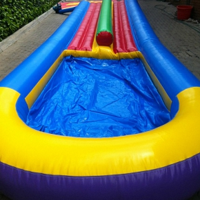 Double Flat Bed Water Slide